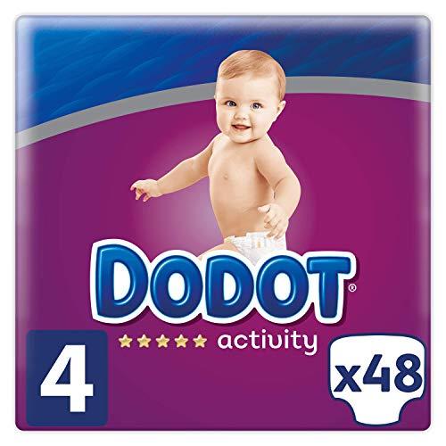 Dodot Protection Plus Activity - Pañales  para Bebés, Talla 4, (9-14 kg), 48 Pañales