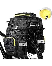 WATERFLY Fietstas 3-in-1 multifunctionele waterdichte bagagedragertas fietsen bagagedrager tas scheurvast grote fietstas met regenhoes