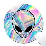 Kusaファッションマウスパッド Alienパターン布サーフェス天然ゴム カスタマイズノンスリップゴムゲームマウスパッド 8x 8x 0.12インチ inch