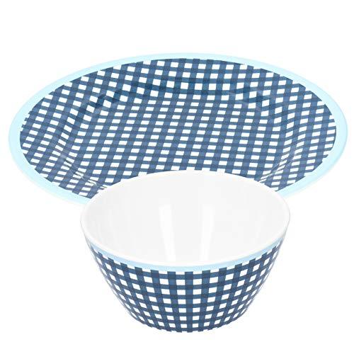 Plato de postre, plato de ensalada de frutas liso y plano para cocina Hoom
