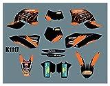 Hjunisshkm Motorcycle Graphics Protector Fondos Vinilantes Sticker Kits para KTM SX SXF 2007-2010 ECC 2008-2011 HFDYJ (Color : 17)