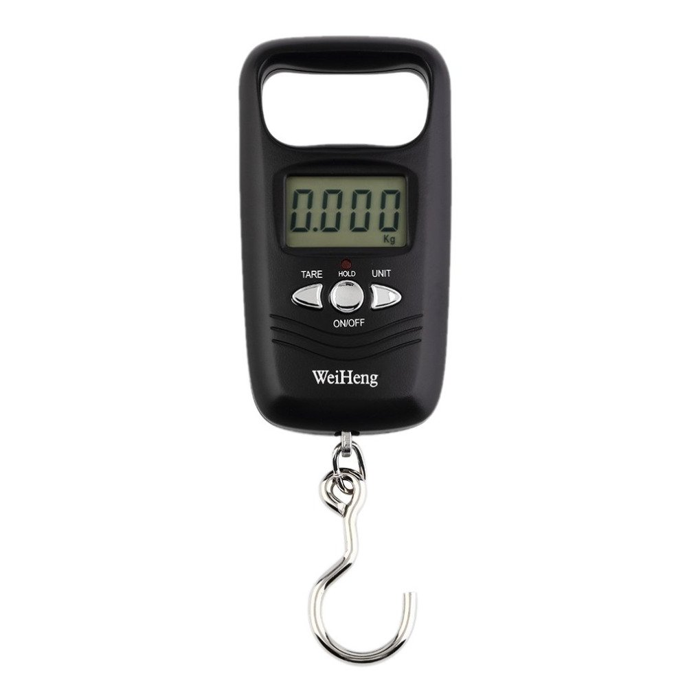 50kg//10g Portable Mini Electronic Digital LCD Travel Luggage Hanging Hook Scale White WskLinft Digital Scale