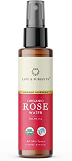 USDA Certified Organic Rose Water Spray for Face (6.76 fl oz) | 100% Pure Life & Pursuits Skin Toner for Face, Dry Skin an...