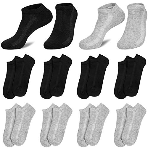 8 Paia Calzini Uomo Sportivi Corti Sneaker Calze Uomo Traspirante Cotone Bassi per Correre La Camminata Sport Indoor e Outdoor