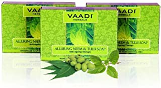 Vaadi Herbals Alluring Neem Tulsi Soap with Vitamin E and Tea Tree Oil, 75gms x 3