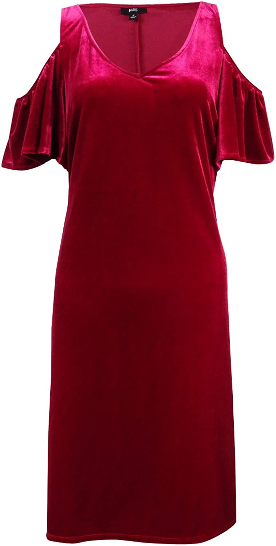 MSK Womens Velvet Shift Cocktail Dress