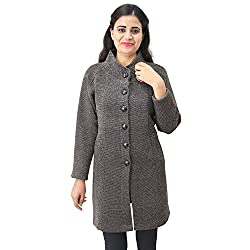 Matelco Womens Button Coat with Pocket Cardigan