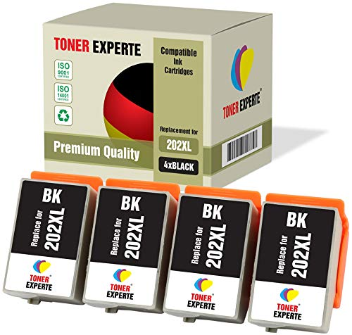 4 XL TONER EXPERTE® Compatibles 202 202XL Cartuchos de Tinta para Epson Expression Premium XP-6000, XP-6005, XP-6100, XP…