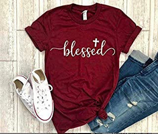 blessed shirt religious tee thanksgiving t-shirt cross tee christian shirt