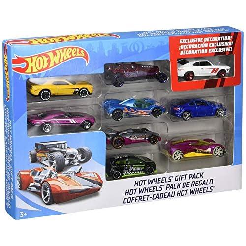 Mattel-X6999 Hot Wheels Veicoli Pack 9 pz 1:64, Multicolore, X6999