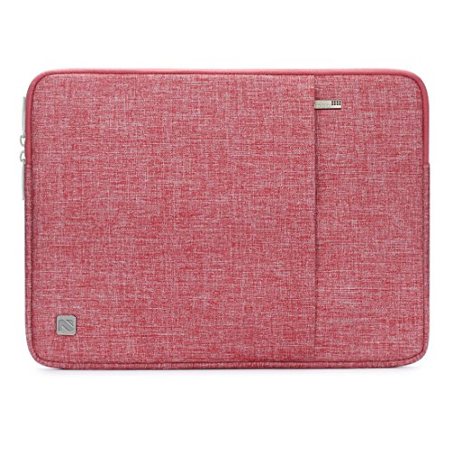 NIDOO 10 Inch Laptop Sleeve Case Water Resistant Protective Portable Bag for 10.5' 10.9' 11' iPad Pro Air / 10.2' iPad/Surface Go 2/ Galaxy Tab A / 10.4' Galaxy Tab S6 Lite/10.1' MediaPad T5,Red
