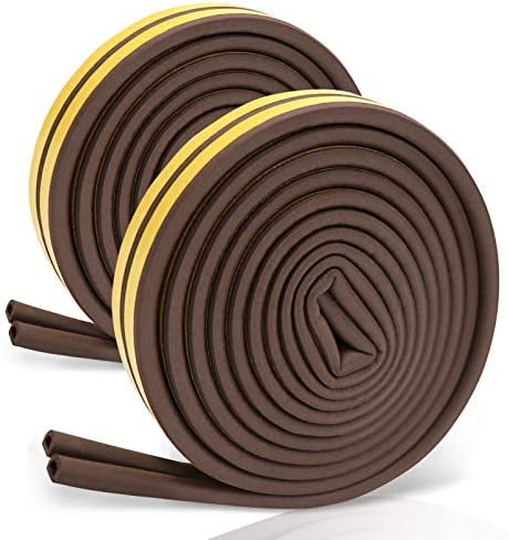 Weather Stripping Door Seal Strip for Doors and Windows 1 4inch x 3 8inch x 33FT Foam Insulation product image