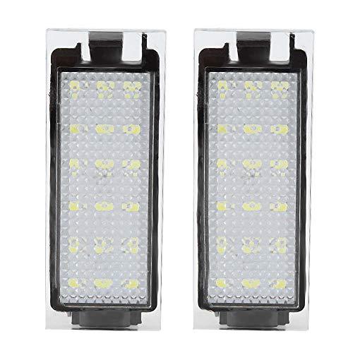 Luz de matrícula, 2 uds., Lámpara LED de luz de matrícula