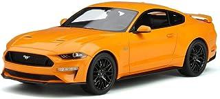 2019 Ford Mustang GT 5.0 Orange Fury 1/18 Model Car by GT Spirit GT205