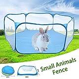 Beaviety Kleine Tiere Zelt Atmungsaktiv Transparent Haustier Laufstall Outdoor/Indoor Übungszaun Für Meerschweinchen Kaninchen Hamster Chinchillas Und Igel