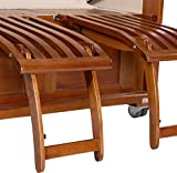 Luxus Mahagoni XXL Strandkorb Volllieger für 2 Personen aus Hartholz Grau-Weiß Gestreift - Aufgebaut und Einsatzbereit Strandkorbwelt365