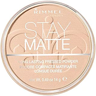 (6 Pack) RIMMEL LONDON Stay Matte Long Lasting Pressed Powder - Creamy Natural