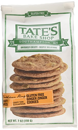 Tate's Bake Shop Gluten Free Ginger Zinger Cookies, 7oz Bag, Pack of 3