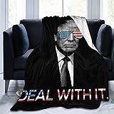 Hdadwy Trump Deal Withcherrymo Manta Anti-Pilling Franela Throw Wrap Premium Fleece Warm Cloak 50 40 Pulgadas para niños