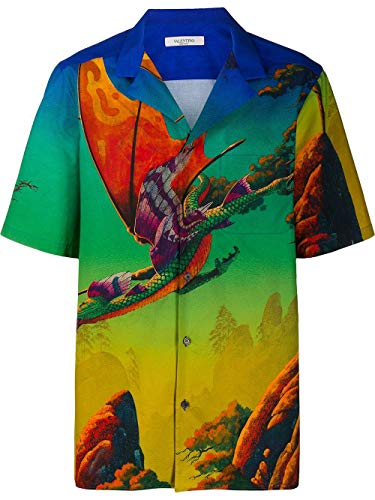 Valentino Luxury Fashion Herren TV0AA77165S84M Multicolour Baumwolle Hemd | Frühling Sommer 20