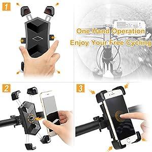"""HASAGEI Soporte Movil Bici para 4.5"""" -7.2"""" Smartphones Anti Vibración Soporte Movil para Moto y Bicicleta de Montaña 360° Rotación para Manillar Universal (para el Manillar)"""