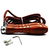 R2F Leather Skipping Ropes Weighted | Fully Height Adjustable Removable Weighted Jump Rope