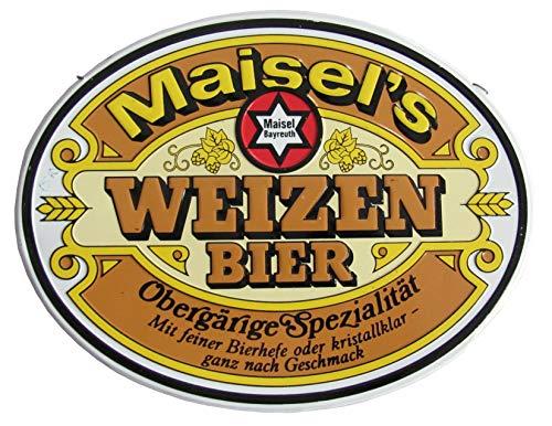 Maisel´s Brauerei Bayreuth - Weizen Bier - Zapfhahnschild - 20 x 16 cm - Blech