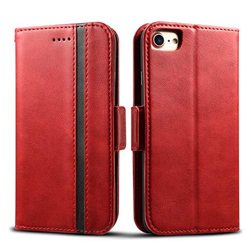 Rssviss Coque iPhone SE (2020)/6/6s/7/8, Housse SE (2020) en Cuir PU, Protection iPhone 7 [4...