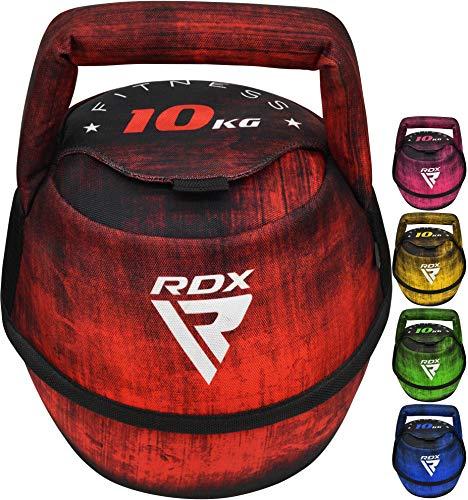 RDX Kettlebell Gewicht mit Griff, Fitness Bodybuilding, Workout, Krafttraining Wettkampf, Kugelhantel für Rundgewicht, Schaukeln, Kniebeugen, Schnappen und Kraftaufbau, Gewichtsvarianten 2kg - 12kg