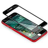 Vetro Temperato iPhone 7/ 8, Coolreall [3D Full Coverage] Pellicola per Apple iPhone 7/ iPhone 8 (4,7 Pollici) [Ultra Resistente Durezza 9H, 3D Touch Compatible] (Nero)