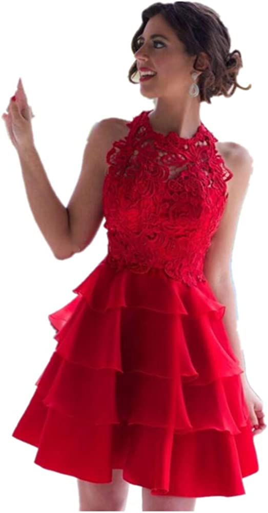 Formaldresses Red Lace Short Homecoming Dress Graduation Dress Cocktail Party Formal Dress