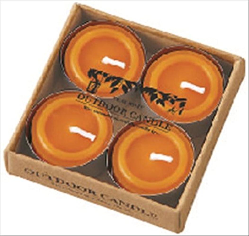 過半数ぬるい不潔カメヤマキャンドル( kameyama candle ) シトロネラティーライト4個入り A8590500