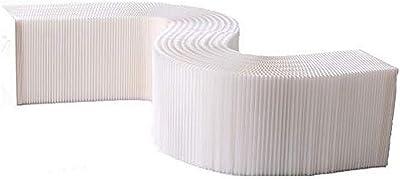 Paper Lounge Bench 38 x 150cm White
