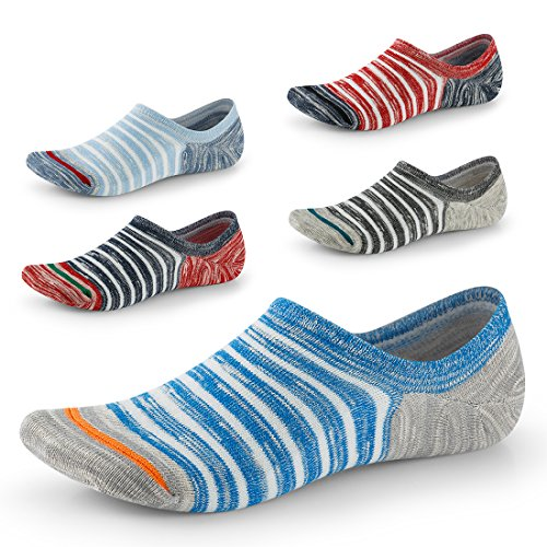 SEESILY Unisex Socken -Low Cut mit Anti-Rutsch-Grip-unsichtbaren Socken für Bootsschuhe Oxfords...
