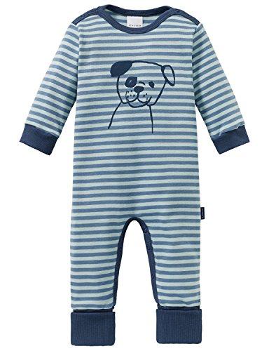 Schiesser Schiesser Baby-Jungen Cool Dogs Anzug mit Vario Fuß Zweiteiliger Schlafanzug, Grün (Mineral 709), 56