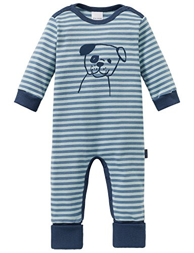 Schiesser Baby-Jungen Cool Dogs Anzug mit Vario Fuß Zweiteiliger Schlafanzug, Grün (Mineral 709), 56