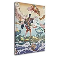 Skydoor J パネル ポスターフレーム 浮世絵 インテリア アートフレーム 額 モダン 壁掛けポスタ アート 壁アート 壁掛け絵画 装飾画 かべ飾り 50×40