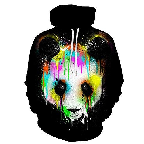 Hycsen 3D Hoodies Panda Printed Sweatshirt Snow Panda Hoodies sweatshirt-DX107-L
