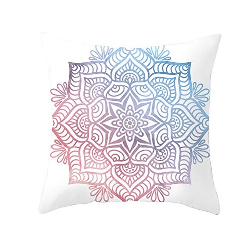 Cushion Pad Textiles Stuffer Flower Red Blue Gradient Soft Solid Pillow Insert Polyester For Home Sofa Bedroom Bed Car Livingroom Decorative Cozy Washable Christmas Indoor & Outdoor C9418 45X45Cm