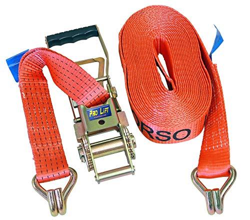 Pro-Lift-Werkzeuge Spanngurt 5000 kg 2-teilig 15 m mit Haken Zurrgurt Ratschengurt 5t Transportgurt Ladungssicherung