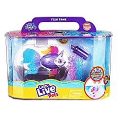 PERFECT HOME FOR YOUR LITTLE LIVE FISH PET: Lil' Dippers have a truly 'WOW' water activated unboxing experience! - Watch as Unicornsea comes to life and swims free from its clam shell as you dip it underwater! UNFORGETABLE SWIMMING EXPERIENCE: Unicor...