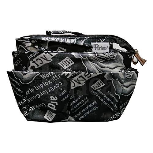 Periea Handtaschen-Organizer groß 13 Fächer + GRATIS Schlüsselhalter, Schwarz-Marina