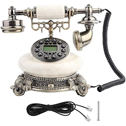 ZARTPMO Teléfono Fijo Fijo Teléfono Retro Vintage Teléfono Fijo Antiguo Europeo Teléfono de Escritorio con Llamada para Uso de Oficina en casa Hotel