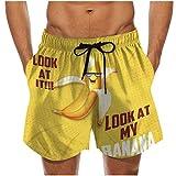 VJGOAL Verano Pantalones Cortos Hombre Estampado de Plátano Secado rápido Tallas GrandesTraje de Baño con Bolsillos Bañador de Natación de Playa