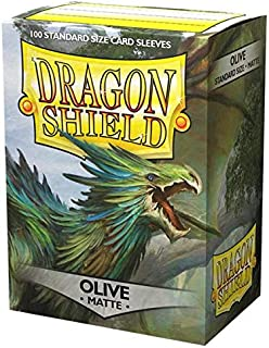 Dragon Shield Sleeves - Matte Olive 100 CT - MGT Card Sleeves - Compatible with Magic The Gathering Card Sleeves Pokémon a...