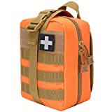 VIIDOO Medical Pouch,IFAK Pouch Rip Away,Orange EMT First Aid Molle Pouches Tactical Medical Pouches for Hiking Camping