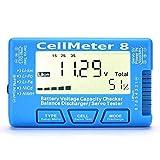 IENPAJNEPQN Capacidad RC-8 Cellmeter 1-8S Digital Voltaje de la batería del medidor verificador LiPo Li-LON batería NiMH probador Cellmeter 8