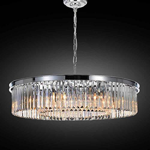 Meelighting Crystal Chrome Chandeliers Modern Contemporary Ceiling Lights Fixtures Pendant Lighting...