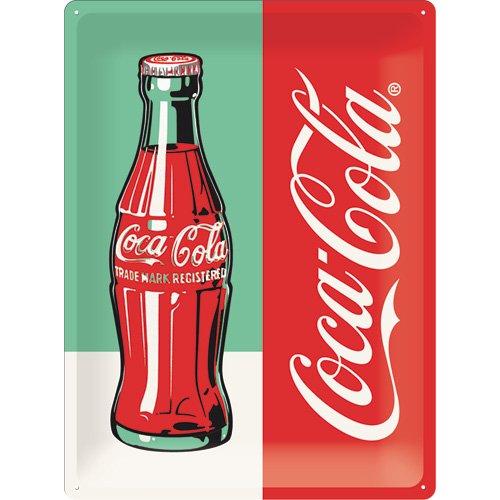 Nostalgic-Art Coca-Cola – Bottle Pop Art – Plaque en métal 30 x 40 cm, Design Vintage pour la décoration, 30 x 40 x 0,2 cm