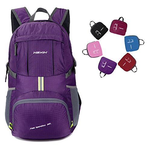 Large 35L Lightweight Daypack Backpack Water Resistant Travel Backpack/Foldable & Packable Durable Hiking Daypack